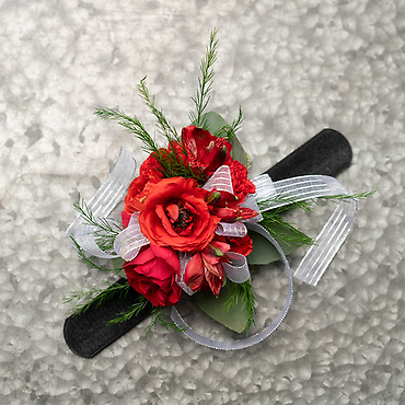 Red Wrist Corsage