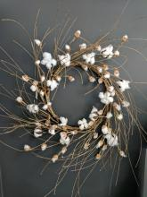 Cotton Country Wreath