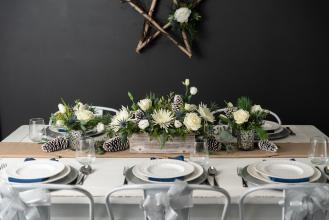 Glistening Snow Centerpiece Set