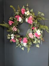 Pink Woodland Wreath