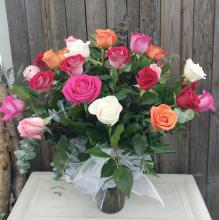 2 Dozen assorted roses