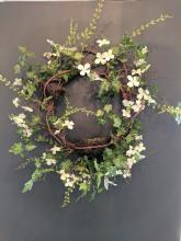 Crisp White Blossom Wreath