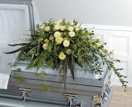 Green Serenity Casket Spray