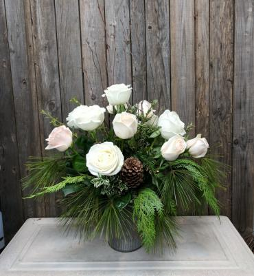 Winter Dream Rose Arrangement